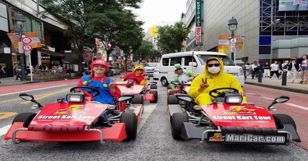 voyage au Japon : street kart dans les rues
