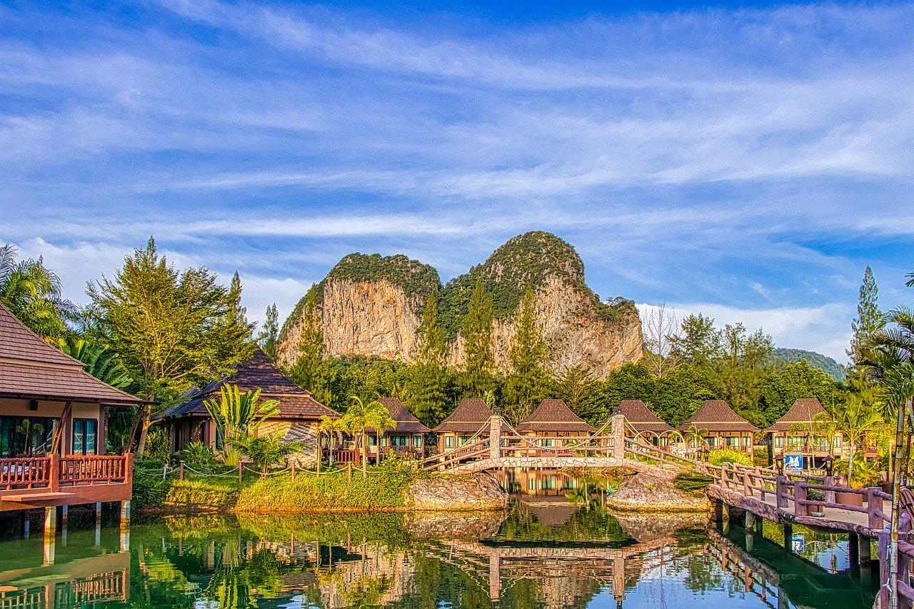 circuit thailande - vue du ciel en été